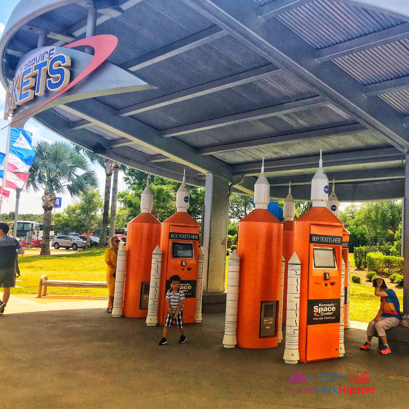 Kennedy Space Center Bright Orange Ticket Booth