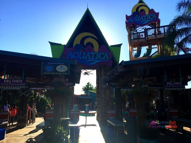 Aqautica SeaWorld Orlando Florida Water Park Entrance