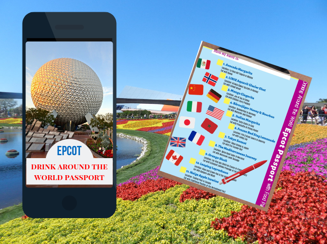 Drink Around the World Epcot Passport Neige Apple Icewine in Canada