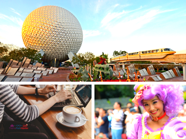 How to start a Disney Travel Blog with Bluehost with Epcot silver globe in the background.