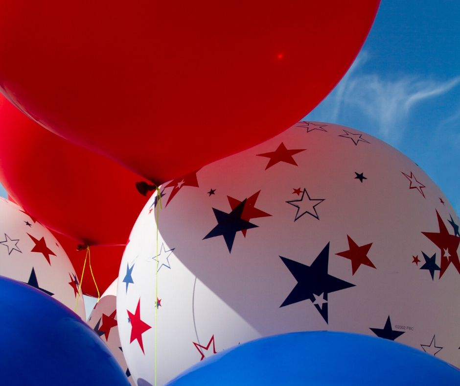 4th of July Balloons at the Parade in Orlando