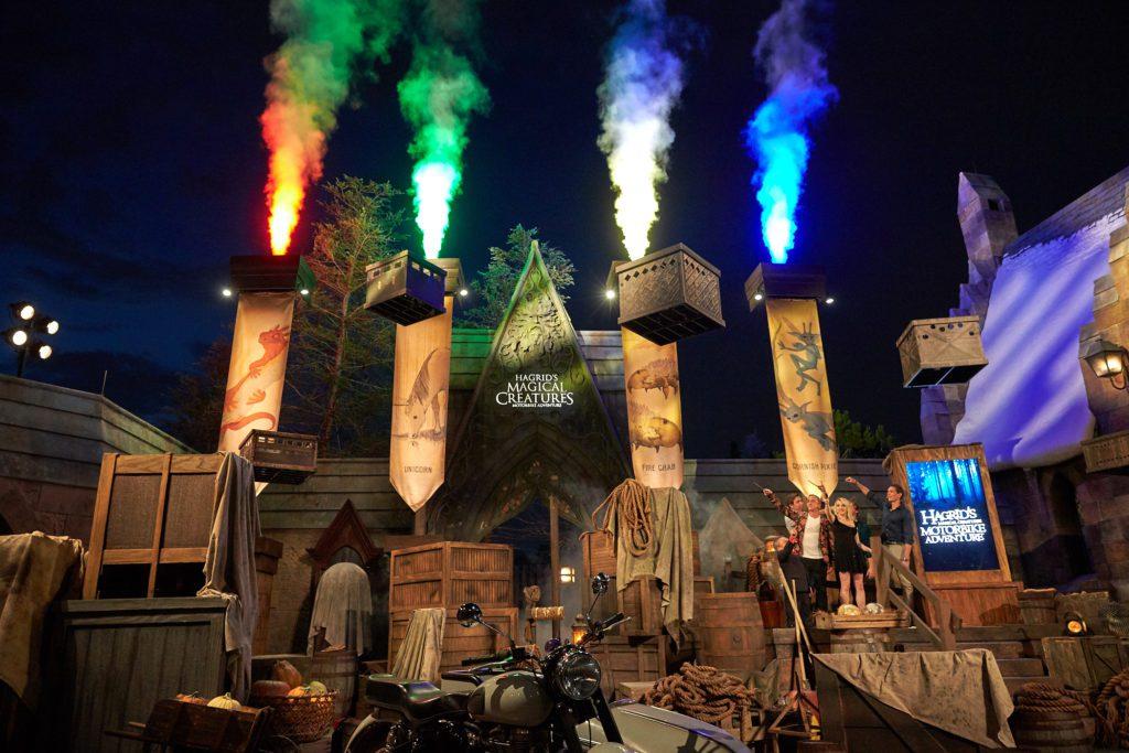 Publicity Hagrid Media Event Grand Opening Hagrid's Magical Creatures Motorbike Adventure Hogsmeade