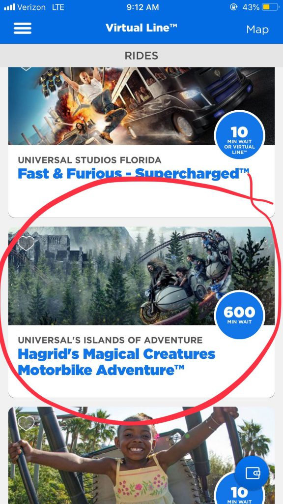 Hagrid's motorbike adventure 10 hour wait time