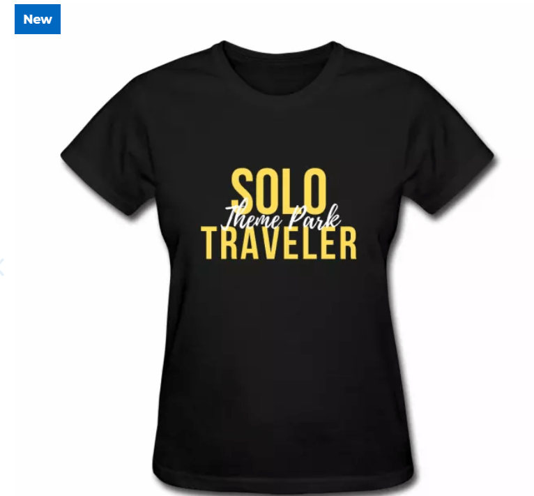 Solo Theme Park Traveler Black Shirt