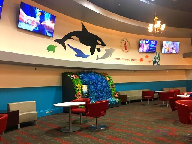 SeaWorld Orlando Pass Member Lounge with Shamu