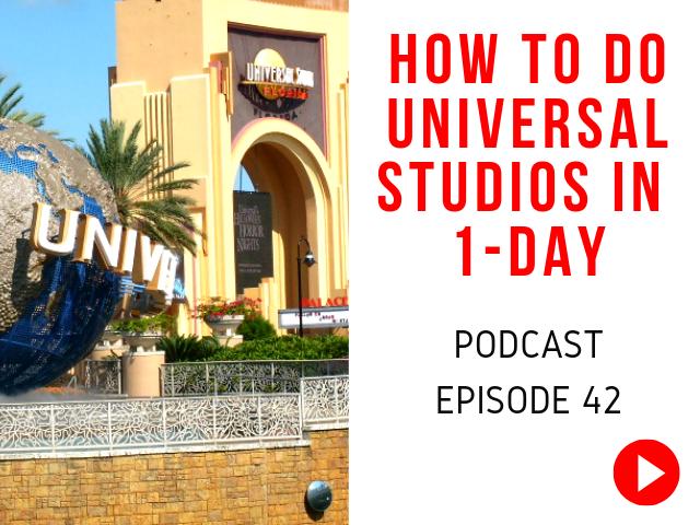 Universal Studios Orlando 1-day itinerary