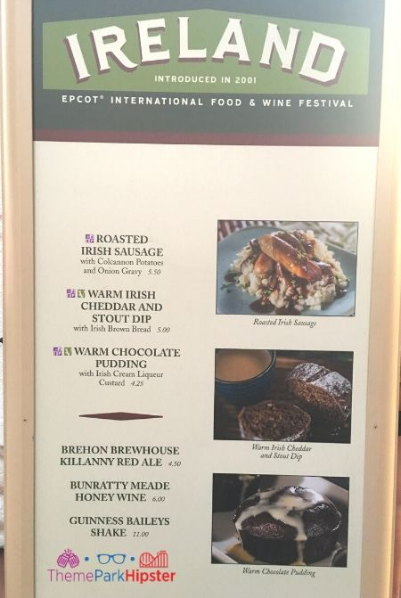 Ireland Menu at Epcot Food and Wine Festival 2019