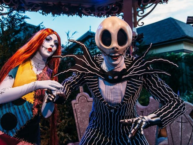 Mickeys Halloween Party Sally and Jack Skellington