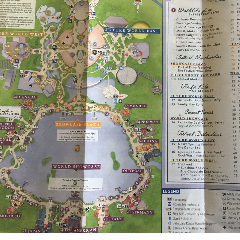 Epcot Food and Wine Festival Map 2019