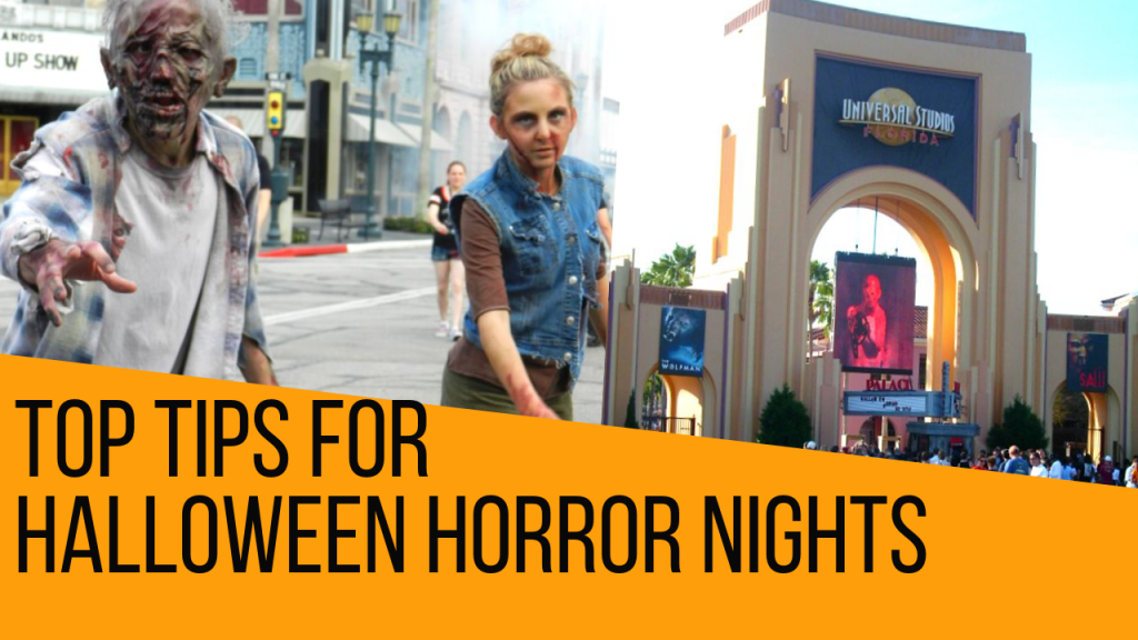 Halloween Horror Nights with Walking Dead Zombies at Universal Studios Florida
