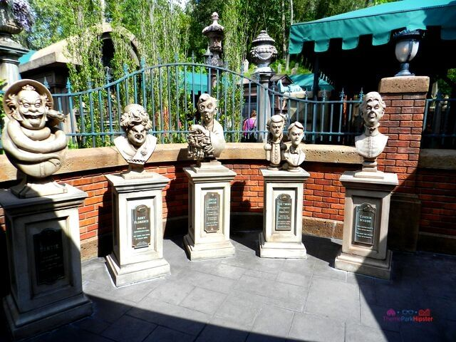 Haunted Mansion Ghost Hosts in interactive line at Magic Kingdom