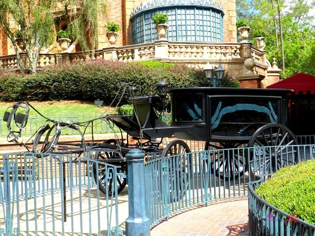 Haunted Mansion at Magic Kingdom with Ghost Carriage