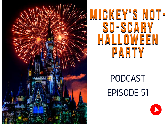 Mickey's not-so-scary Halloween party Tickets with beautiful fireworks audio article.