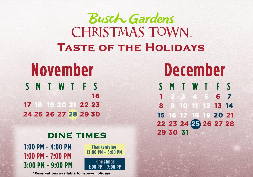2019 BuschGardensTampaBay_Events_ChristmasTown_TasteoftheHolidays