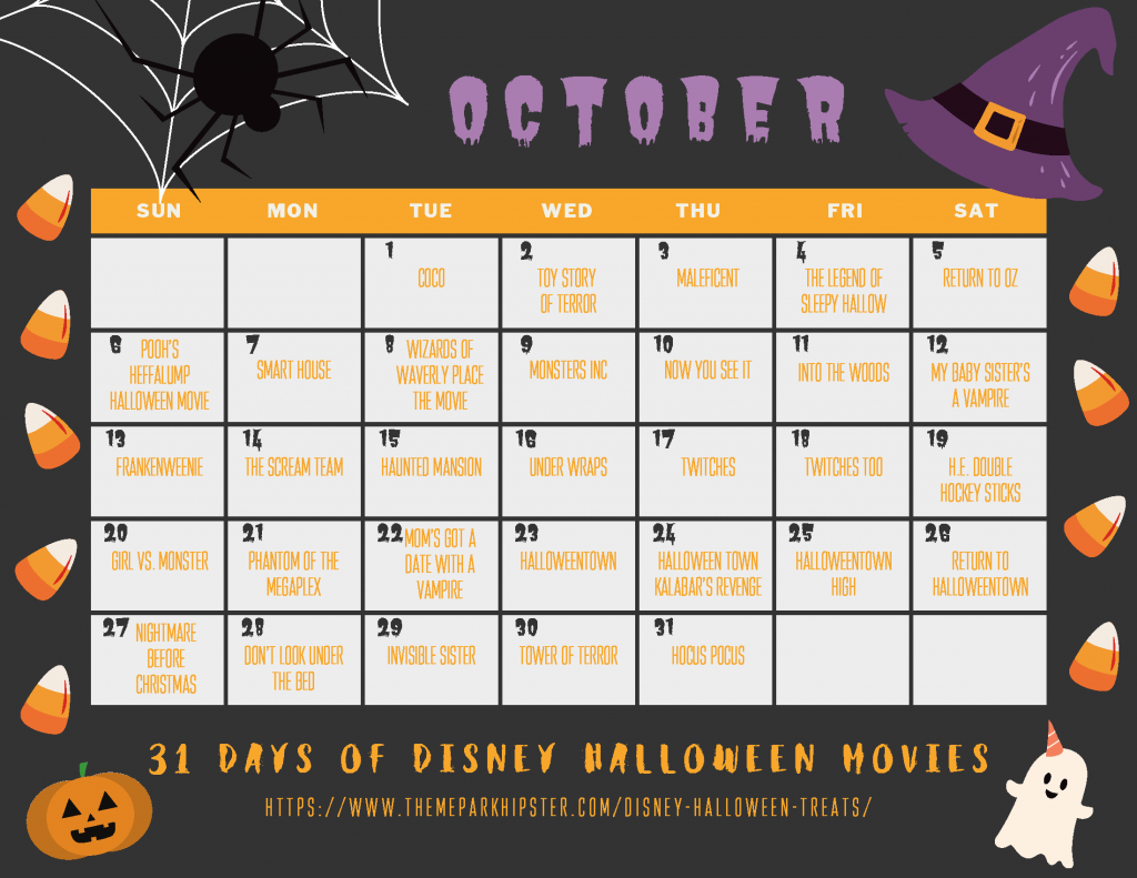 31 Days of Disney Halloween Movies