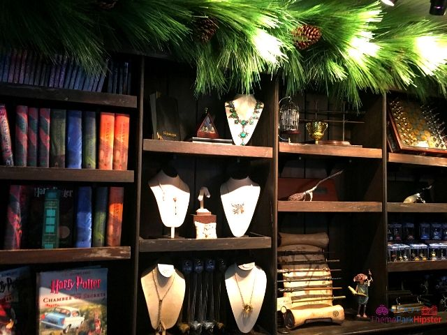 Christmas at Universal Harry Potter Christmas Books and merchandise in Hogsmeade