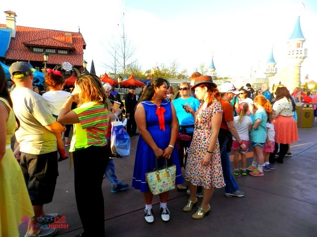 Dapper Day Disney World People in Fantasyland