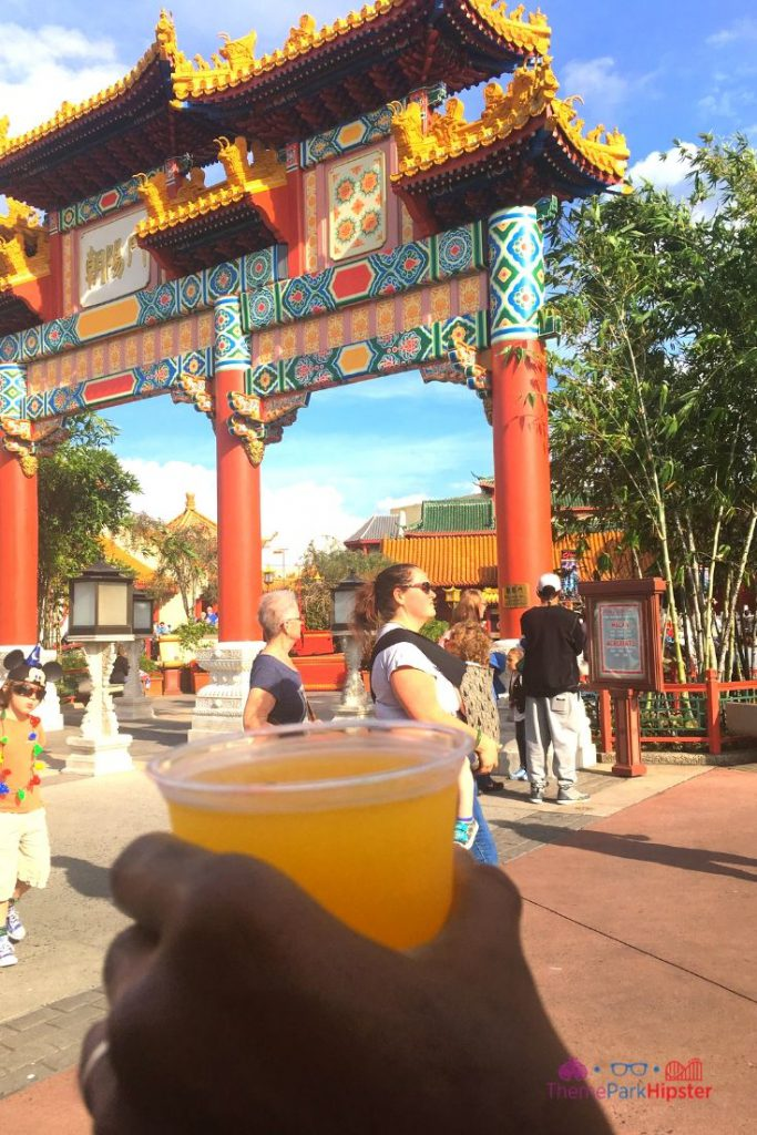 Epcot International Festival of the Holidays 21 China Pavilion Mango Gingerita at Joy of Tea