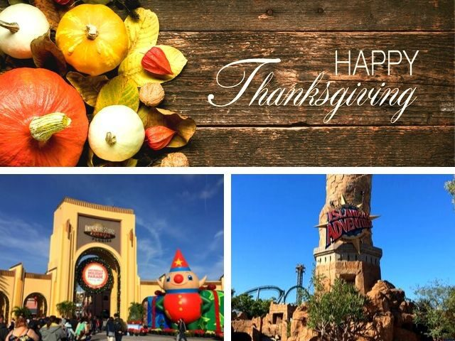 Thanksgiving at Universal Orlando Front Entrance of Universal Studios and Islands of Adventure