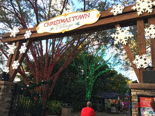 Christmas Town Village at Busch Gardens Entrance