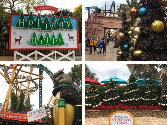 Christmas Town Village at Busch Gardens Holiday Decor