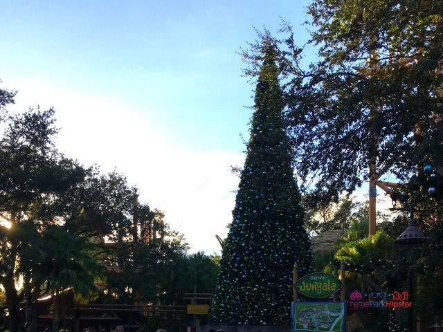 Christmas Town Village at Busch Gardens Tree in Jungala