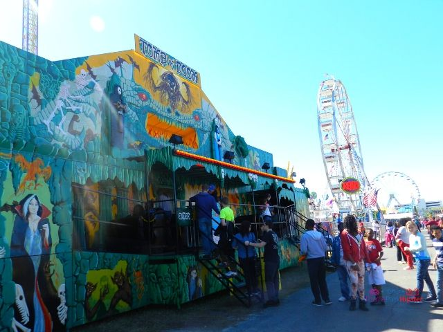 Florida State Fair Blue Haunted House Entrance