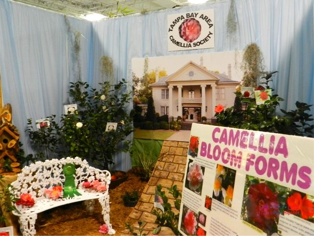 Florida State Fair Expo Center Camellia Bloom Forms with beautiful garden display in Tampa