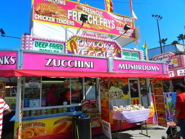 Florida State Fair Food Deep Fried Kiosk with Fried Vegetables