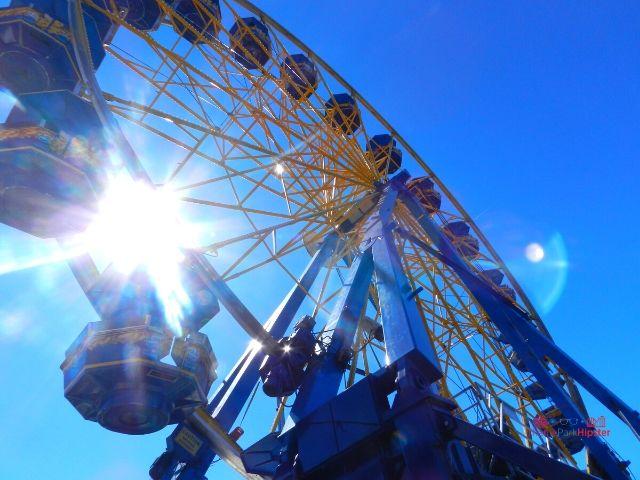 Florida State Fair Giant Blue and Yellow Ferris Wheel