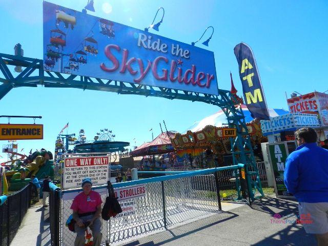 Florida State Fair Ride the Sky Glider Colorful gondolas in the carnival