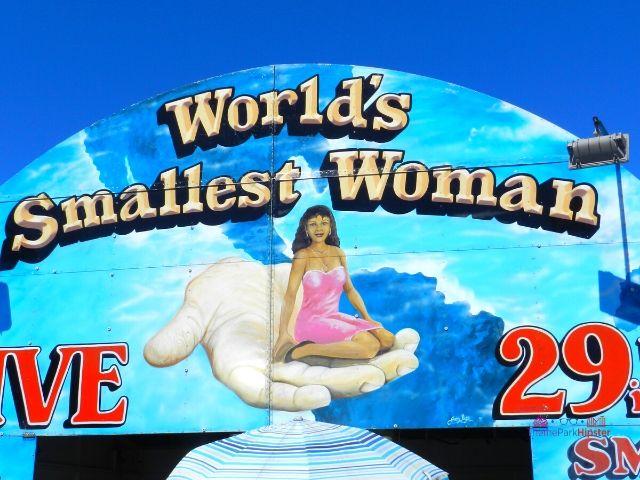 Florida State Fair World Smallest Woman Display