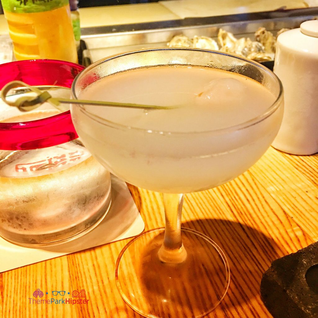 Lychee Martini in Morimoto Asia Disney Springs comes with Absolut elyx and soho lychee liqueur.