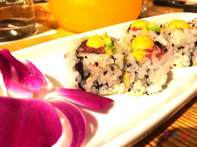 Morimoto Asia Salmon Roll in Disney Springs