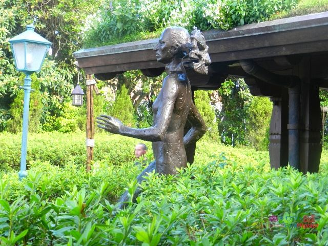 Norway Pavilion at Epcot Woman Sculpture in the Garden