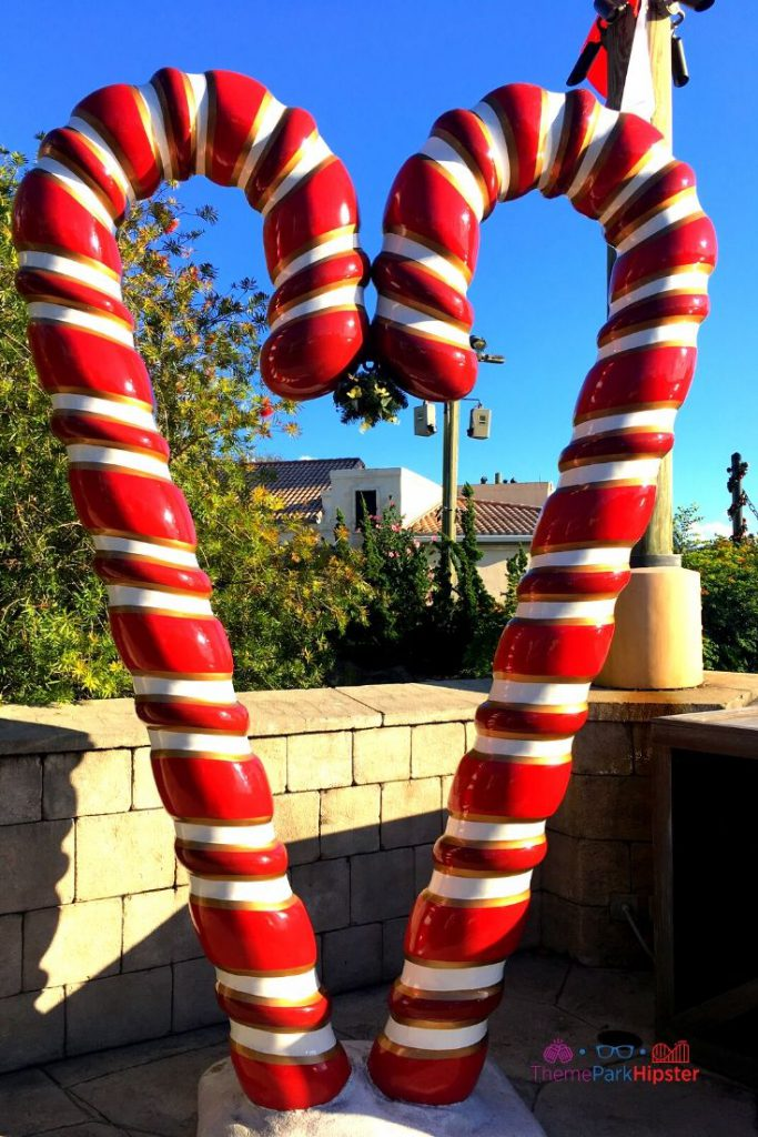SeaWorld Christmas Celebration with Candy Cane red and white shape heart