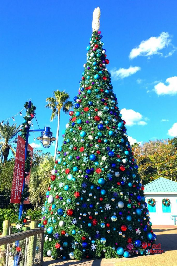 SeaWorld Christmas Celebration with Giant Christmas Tree in the Florida Sunshine