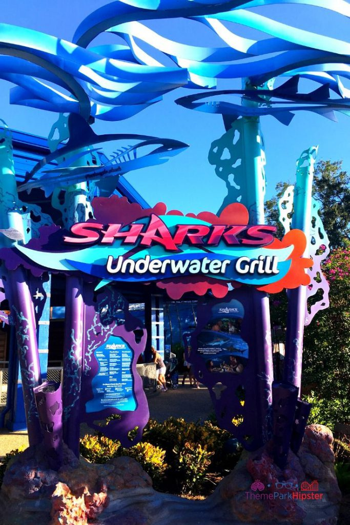 Sharks Underwater Grill in SeaWorld Orlando Sign