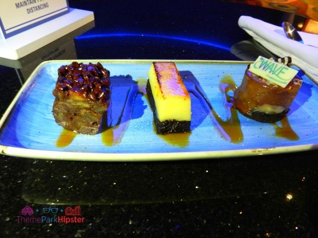 The Wave Dessert Sampler with cheesecake at the Contemporary Resort