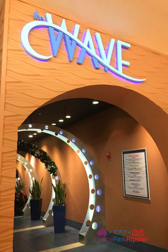 The Wave restaurant entrance at Contemporary Resort