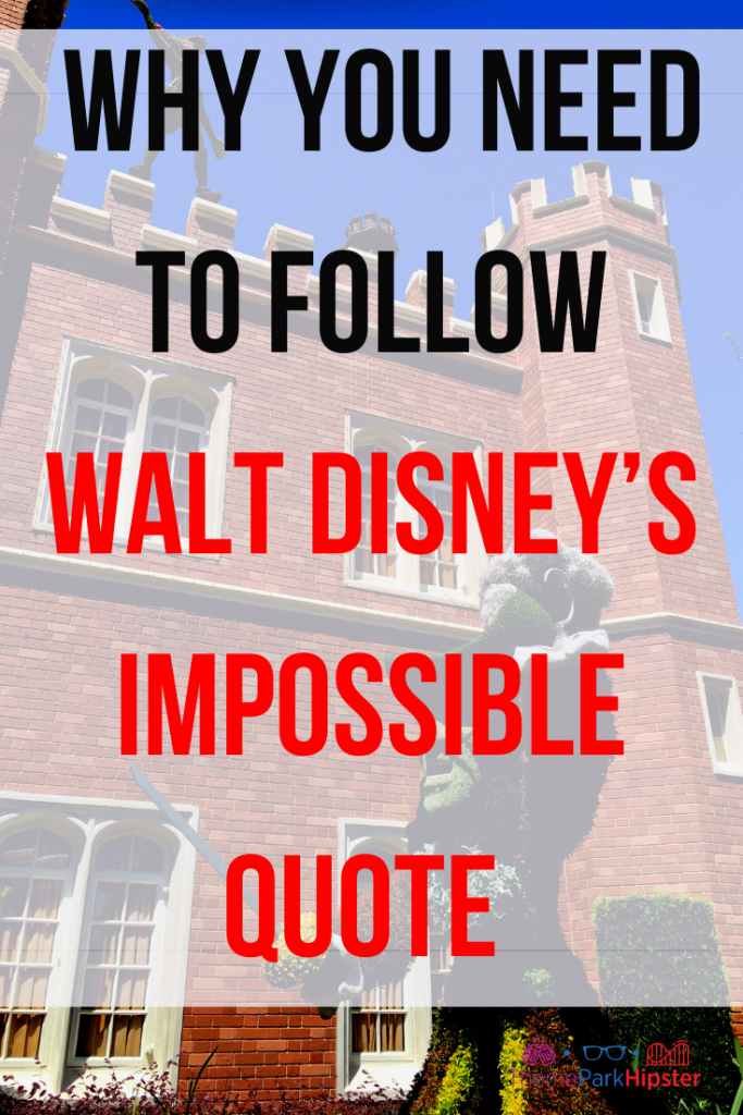 Why You Need to Follow Walt Disney's Impossible Quote (Theme Park Therapy) with Peter Pan and Captain Hook topiaries teasing each other in Epcot UK Pavilion.