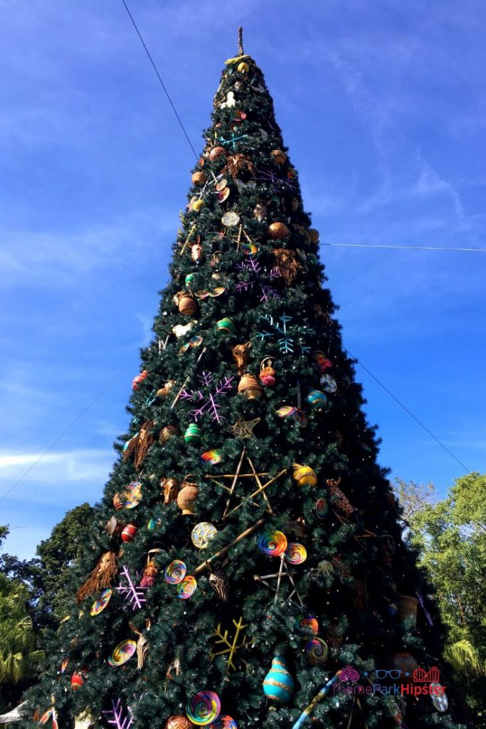 Animal Kingdom Christmas Tree in the Front Entrance