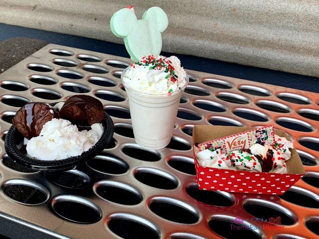Mickey's Very Merry Christmas Party Sweet Treats Christmas at Disney A Frothy Mickey Mouse Milkshake.