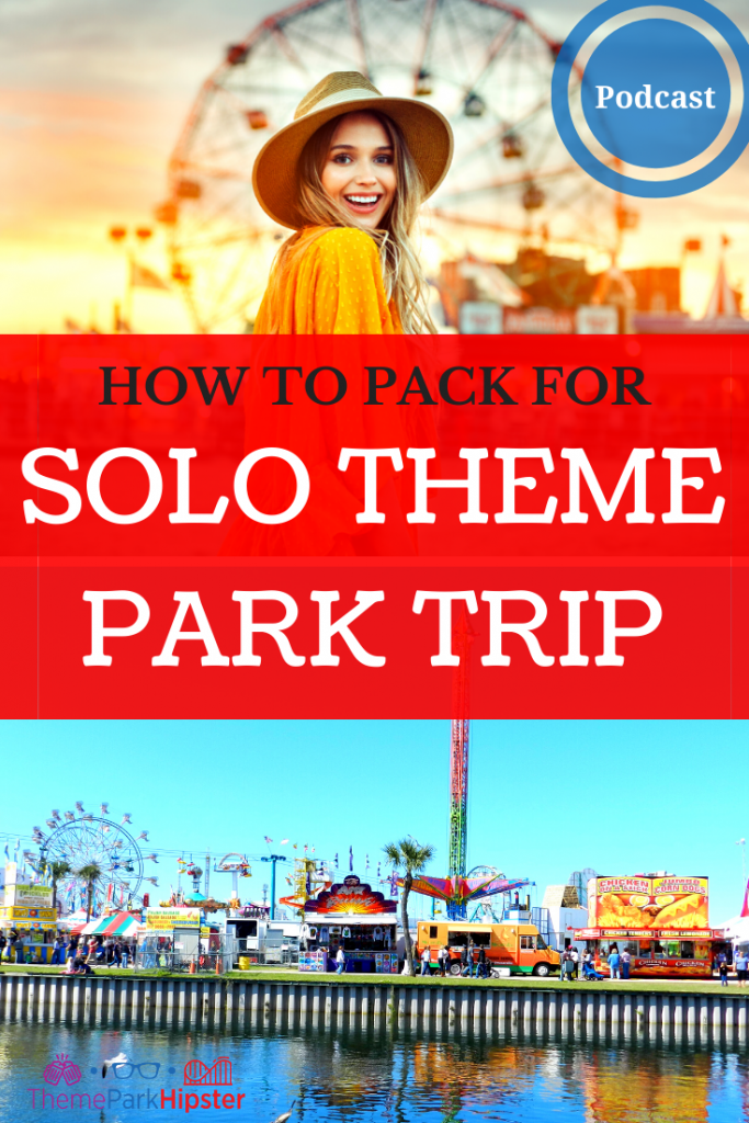 Minimalist Packing List for Solo Vacation to a Theme Park