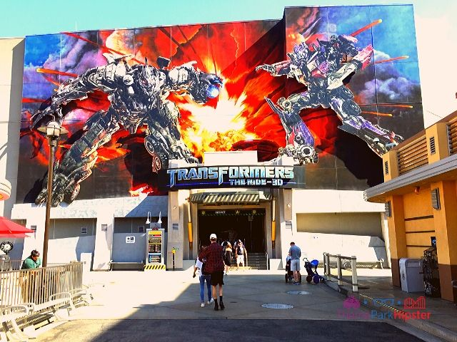 Universal Studios Hollywood California with Transformers The Ride Entrance