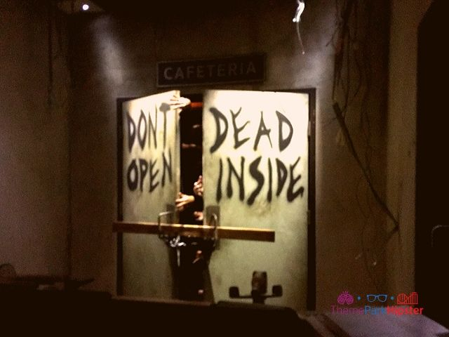 Walking Dead Attraction with Dead Inside Door