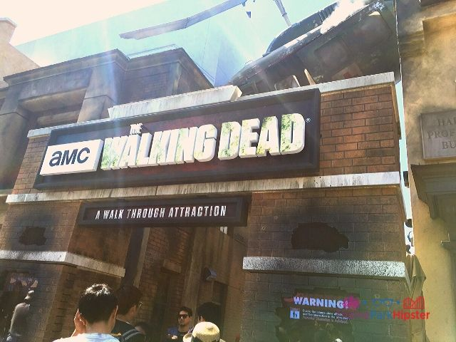 Universal Studios Hollywood California with Walking Dead Entrance