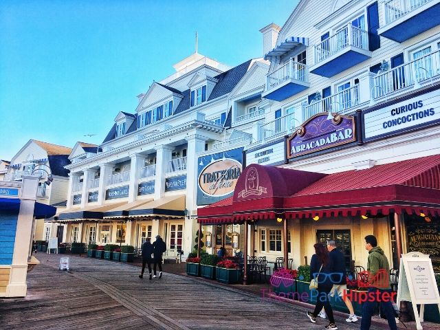 Boardwalk Inn Resort at Disney Shops like Trattoria and Abracadabar