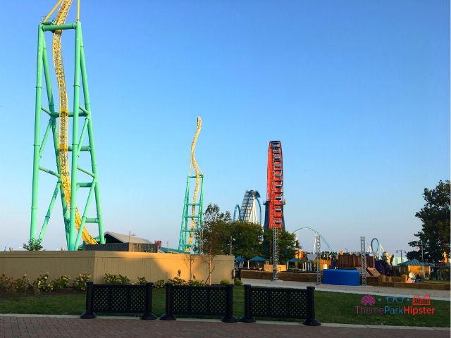 Wicked Twister Cedar Point Lake Eerie Roller Coaster View