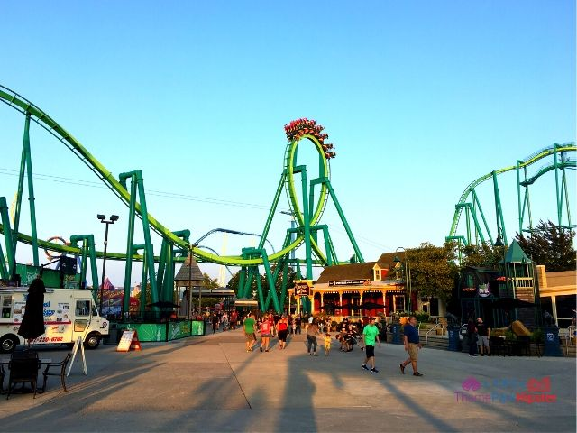Cedar Point Raptor Roller Coaster at Dusk